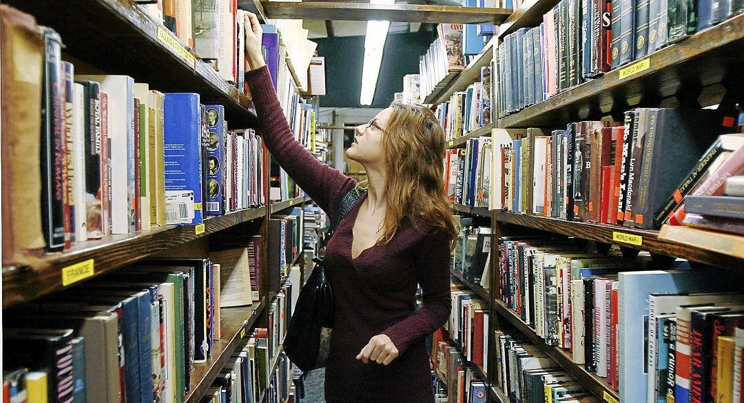 Katherine Whitaker looks for books